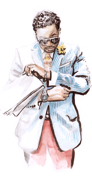 Illustration of a well dressed black man
