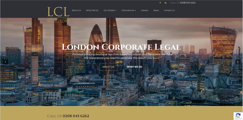 Legal Solicitors Website