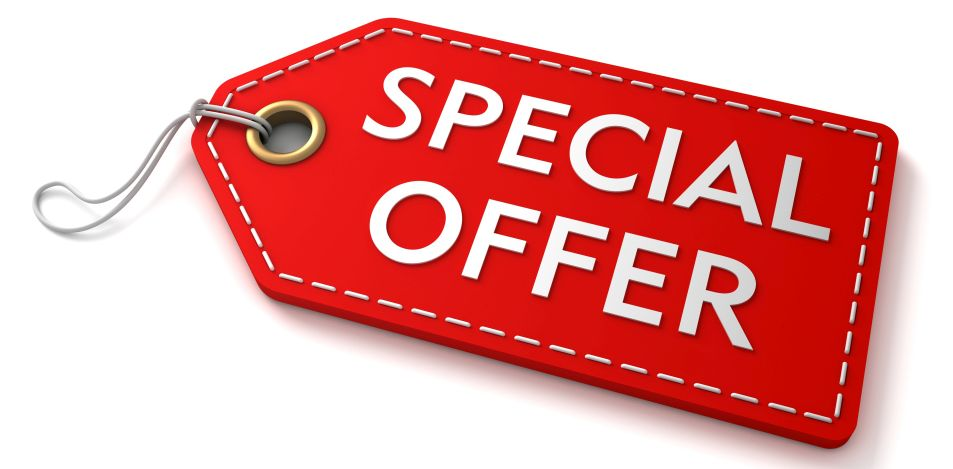 Phone and ask about special offers on our services